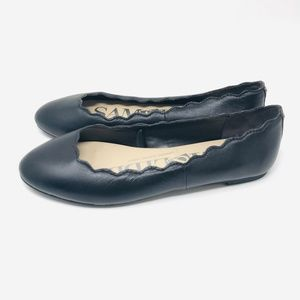 Sam and Libby Scalloped Edge Leather Flats